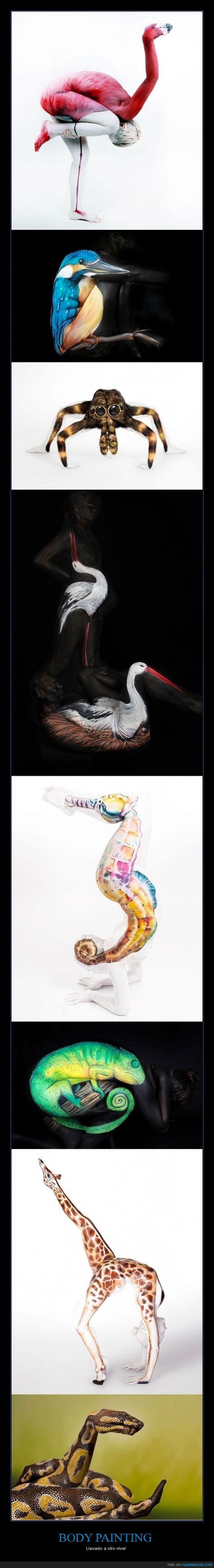 animal,arte,camaleon,colibri,hipocampo,jirafa,painting,pintado,pintar,pody,serpiente