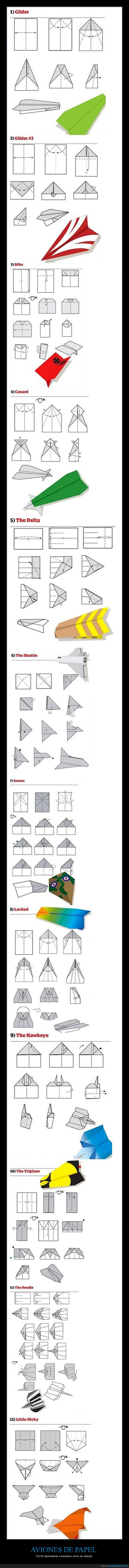 avion,doblar,origami,papel,papiroflexia,tipos