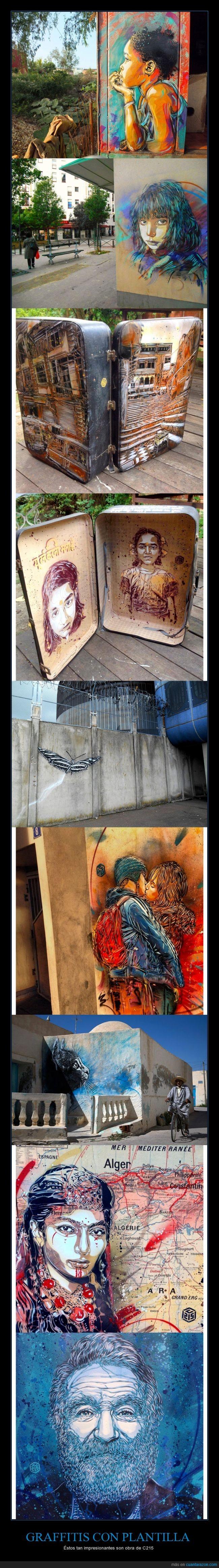 arte,arte urbano,c-215,c215,graffiti,plantilla,robin williams