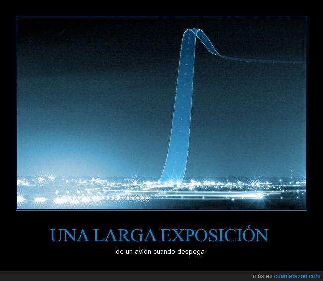 aeropuerto,despegue,fotografía,larga exposición,luces,pista,rastro