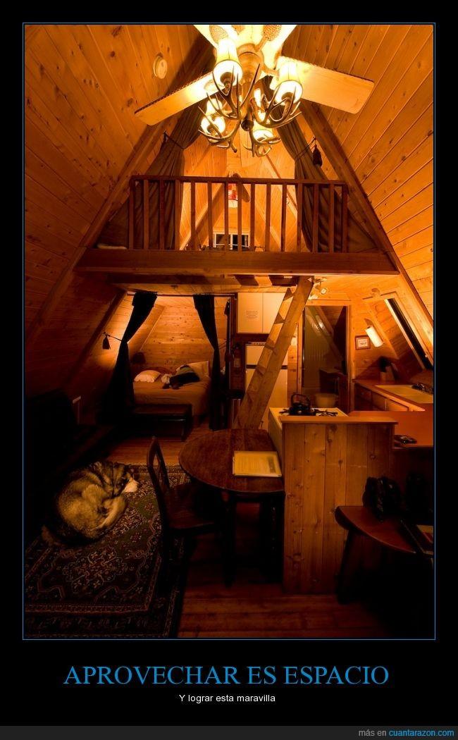 acogedor,buhardilla,casa,confortable,espacio,madera,reducida,techo