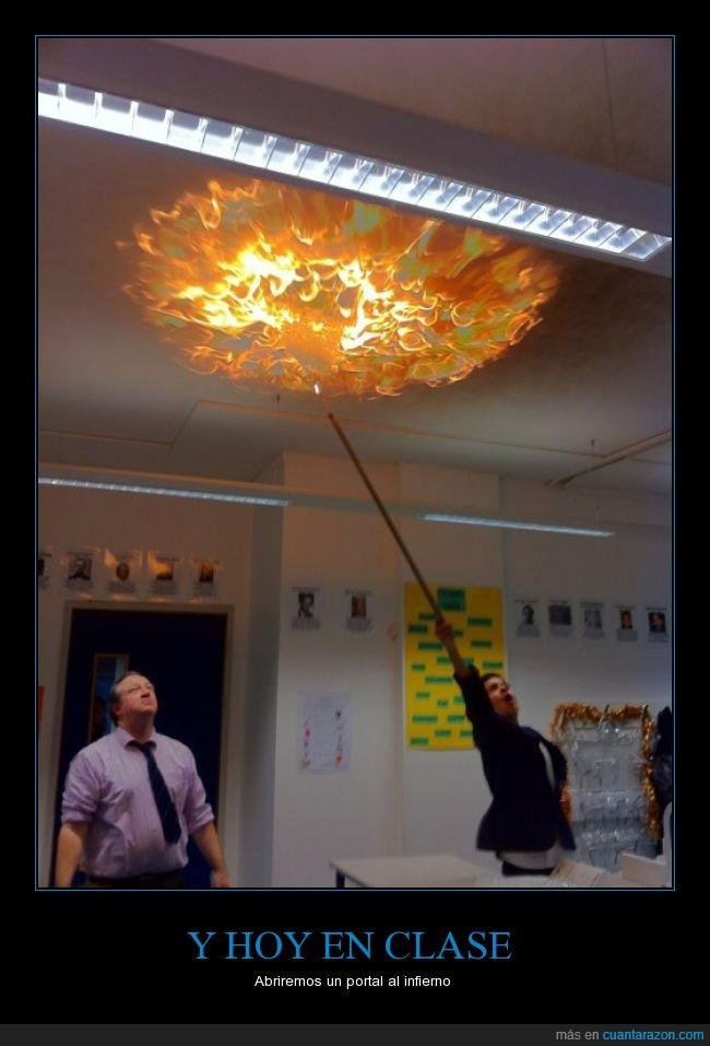 cielo,ciencia,circulo,disparar,fuego,infierno,palo,portal,techo,tejado