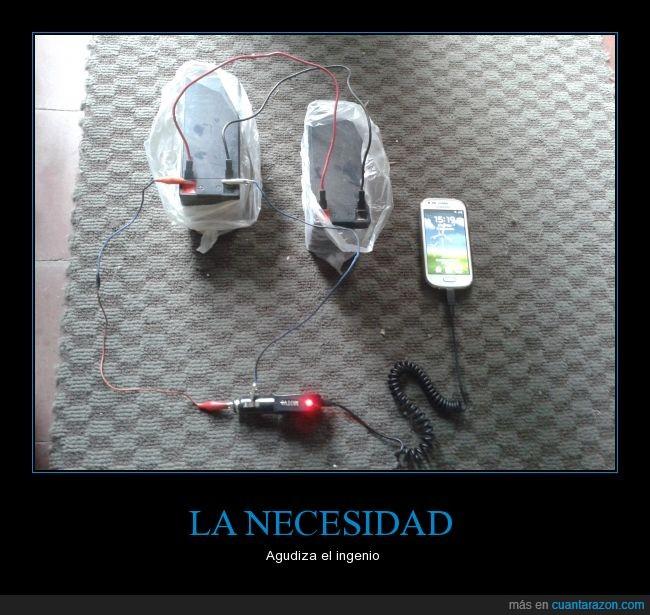 bateria,carga,cargar,falta de luz,ingenio,movil,necesidad,smartphone,telefono