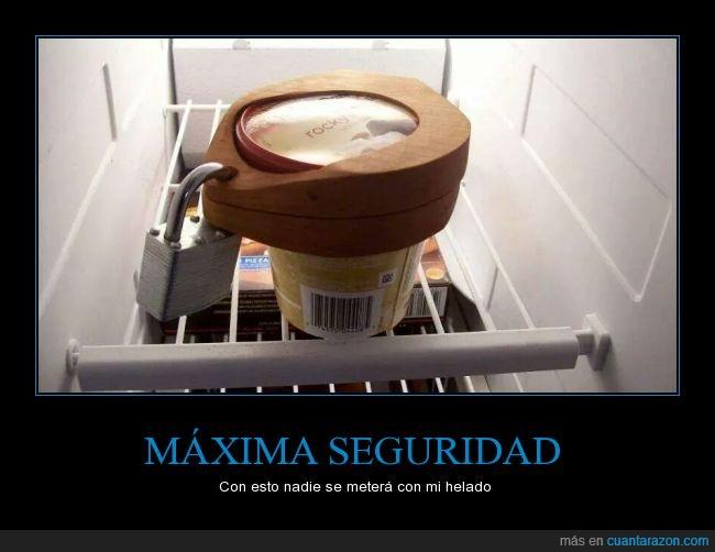 candado,cerrar,cierre,congelador,helado,llave,nevera,seguridad