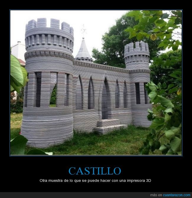 3D,castillo,impresionante.,impresora,jugar,niño