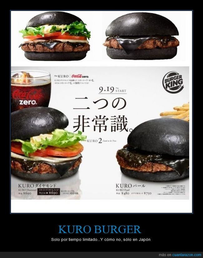 burger king,hamburguesa negra,pan y queso negro