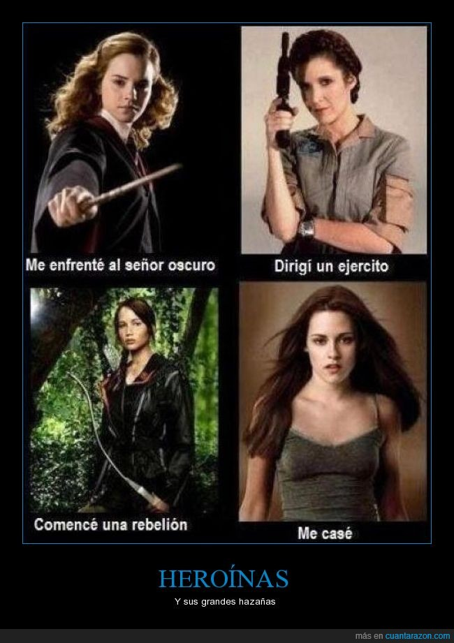bella,harry potter,hermione,heroinas,katniss,leia,star wars,the hunger games