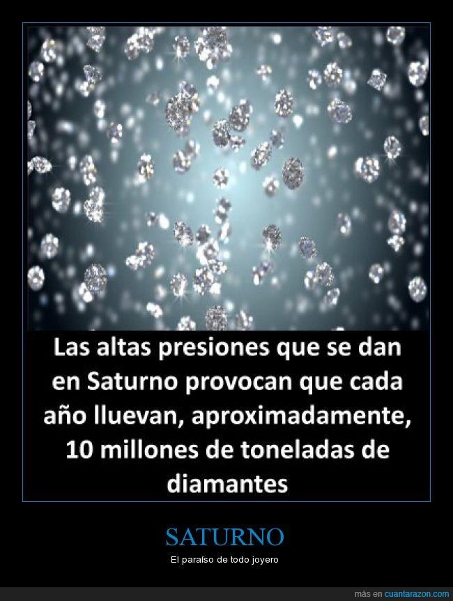 curiosidad,diamantes,lluvia,presión,saturno