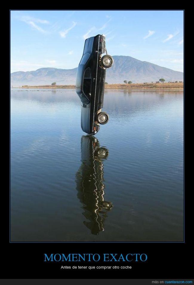 automóvil,caída,coche,congelar,río