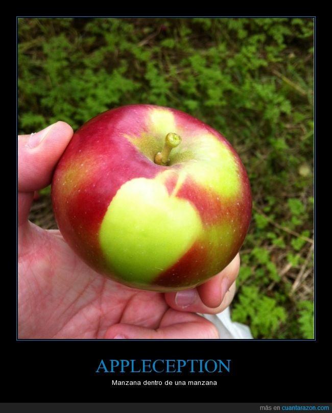 dentro,fruta,inception,manzana