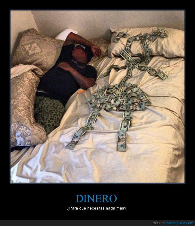 billetes,cama,dinero,forma,mujer,novia
