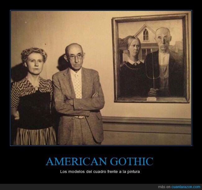 American Gothic,cuadro,modelos,son igualitos