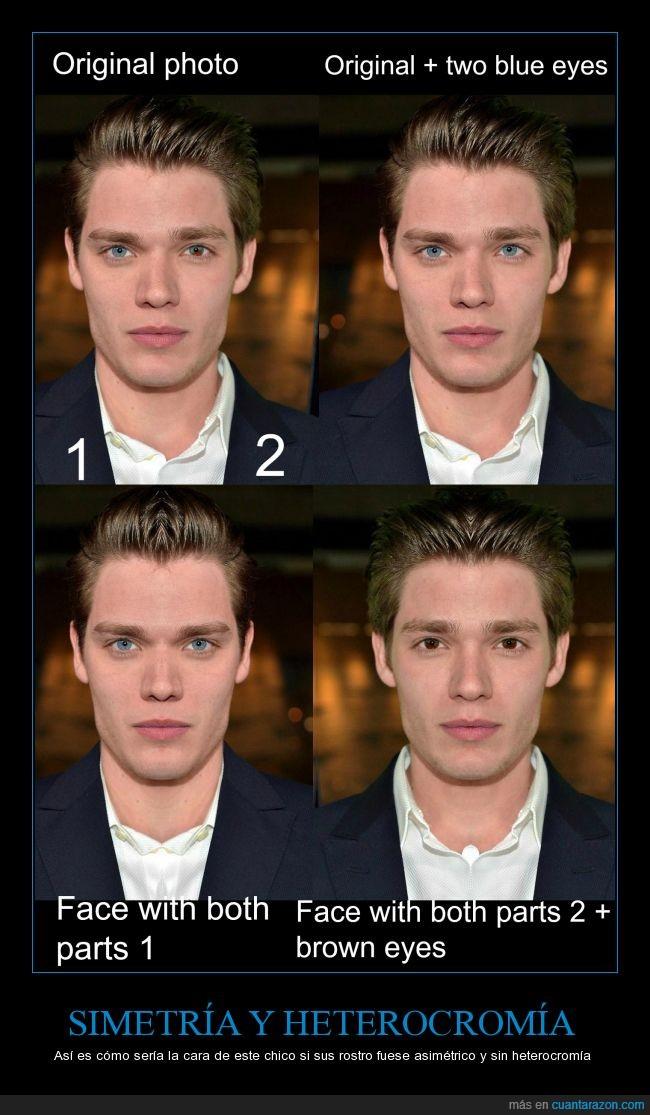 actor,asimetria,diferente,heterocromia,parece otro,rostro