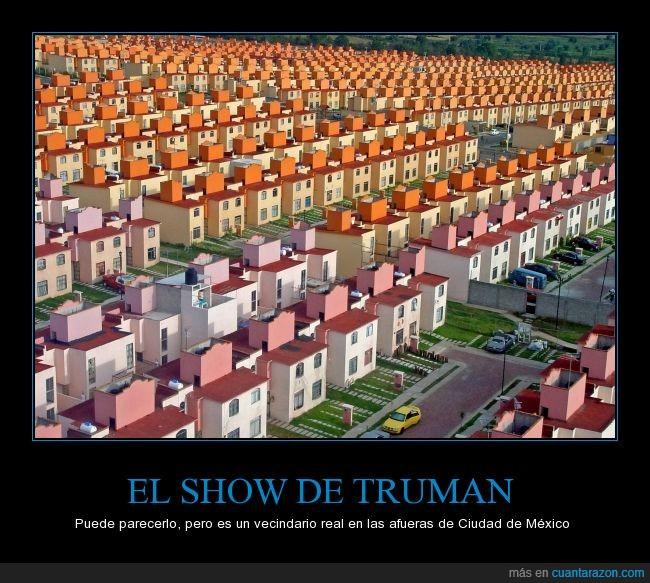 barrio,casas iguales,flipante,mexico,vecindario
