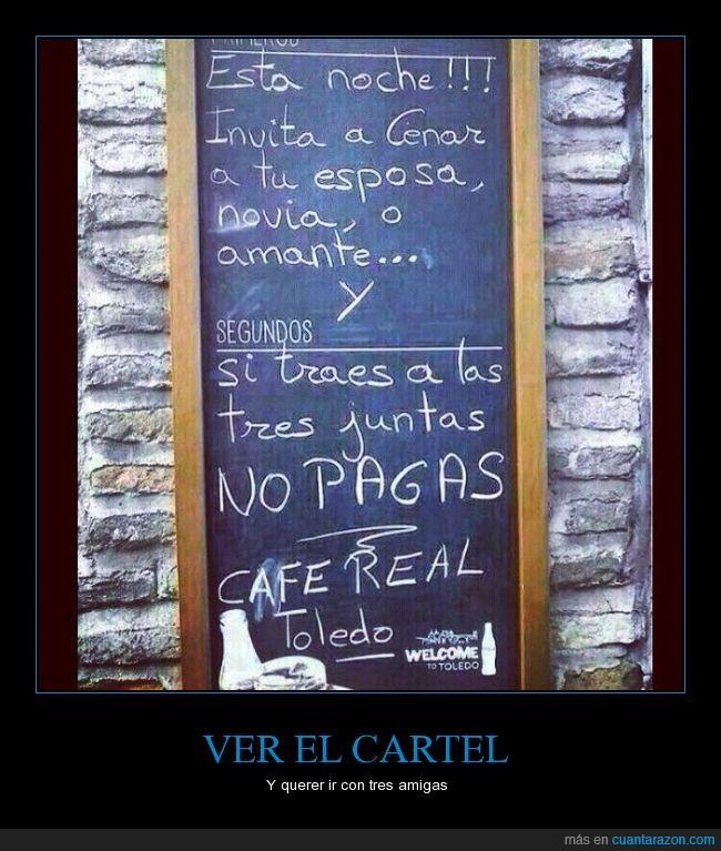 café,cartel,no pagar,toledo