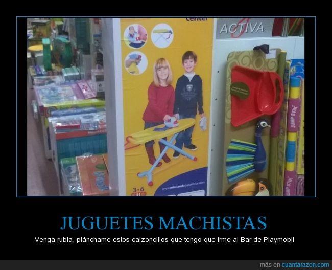 juguetes,machismo,niños,Plancha,tienda