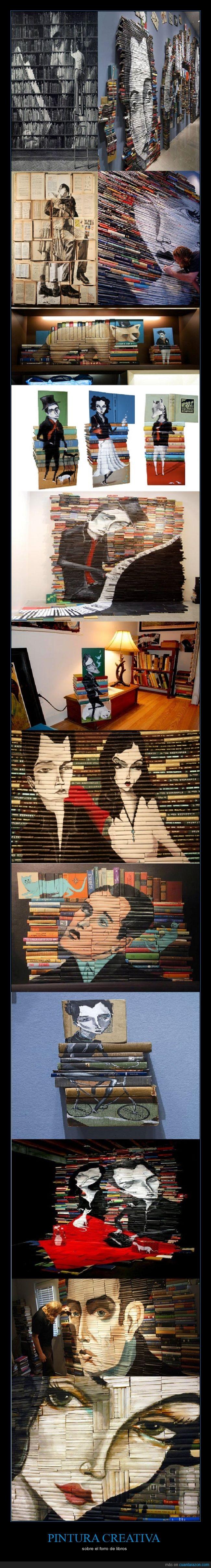 arte,biblioteca,forros,libros,pintor,pintura
