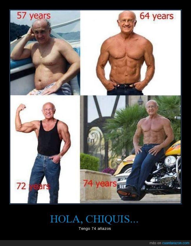 abdominales,abuelo,cachas,ehhhh chiquis,entrenar,fuerte,pectoralacos