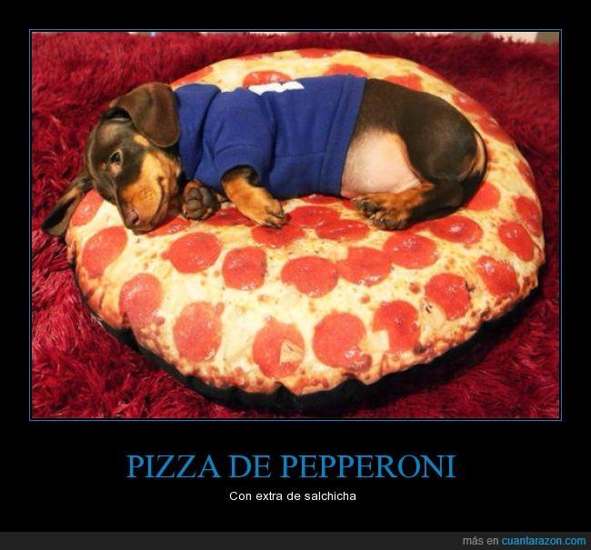 cojín,pepperoni,perro,pizza,salchicha