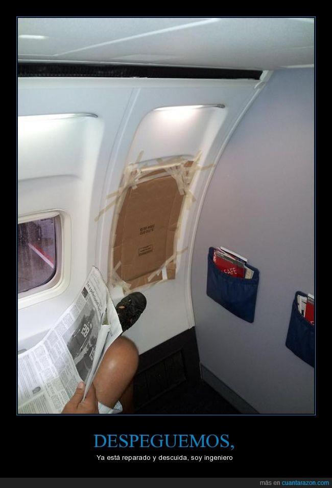 avión,reparación,ventana,ventanilla,vuelo