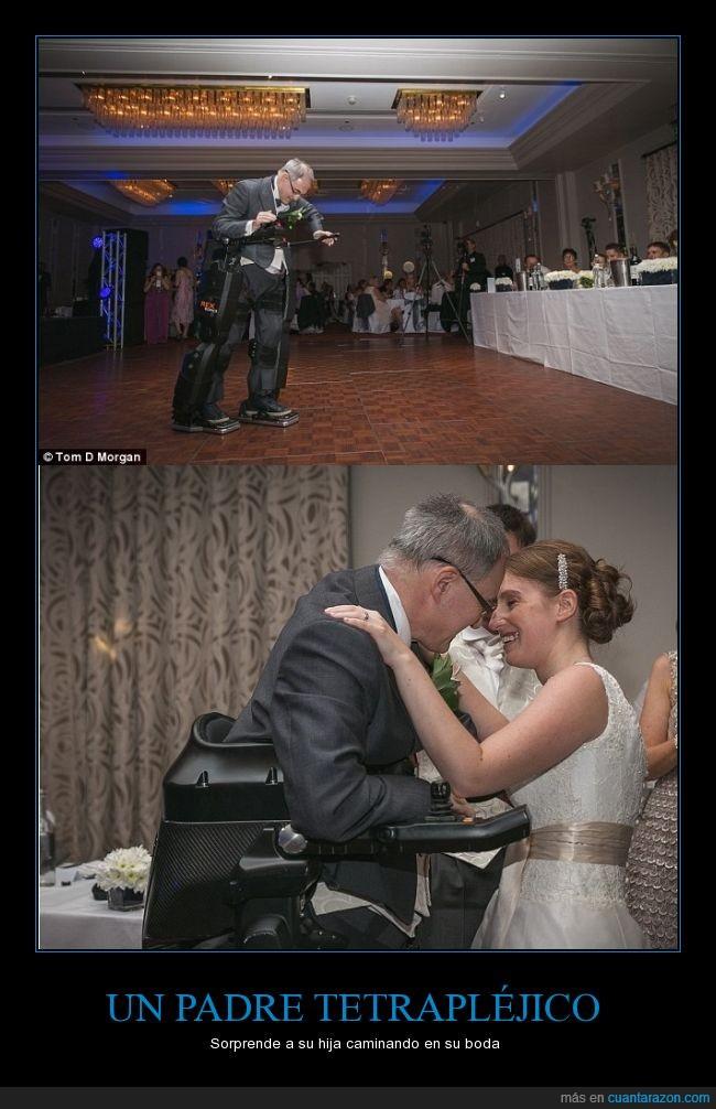 100.000$,boda,caminar,hija,padre,tetraplejico,tratamiento