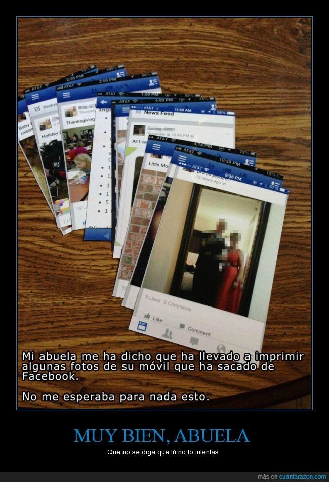abuela,captura de pantalla,foto,imprimir,movil,pantallazo,screenshot,whatsapp