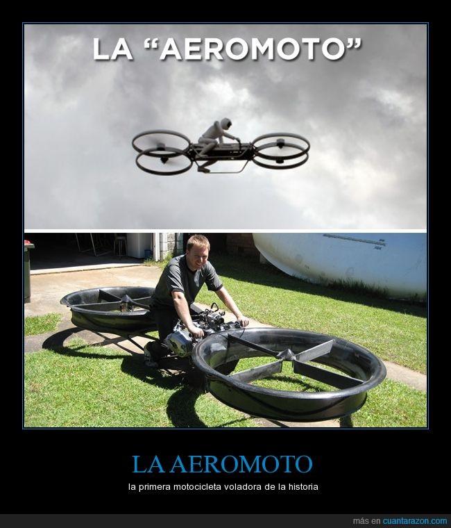 aerodeslizador,aeromoto,flotar,helices,moto,primera,prototipo,volar