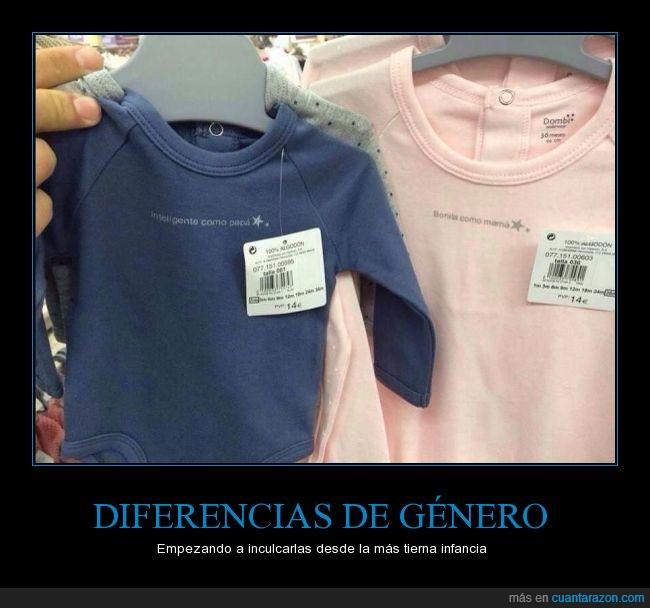 bebe,bonita,desigualdad,diferencia,genero,guapa,inteligente,listo,madre,niña,niño,padre,peto