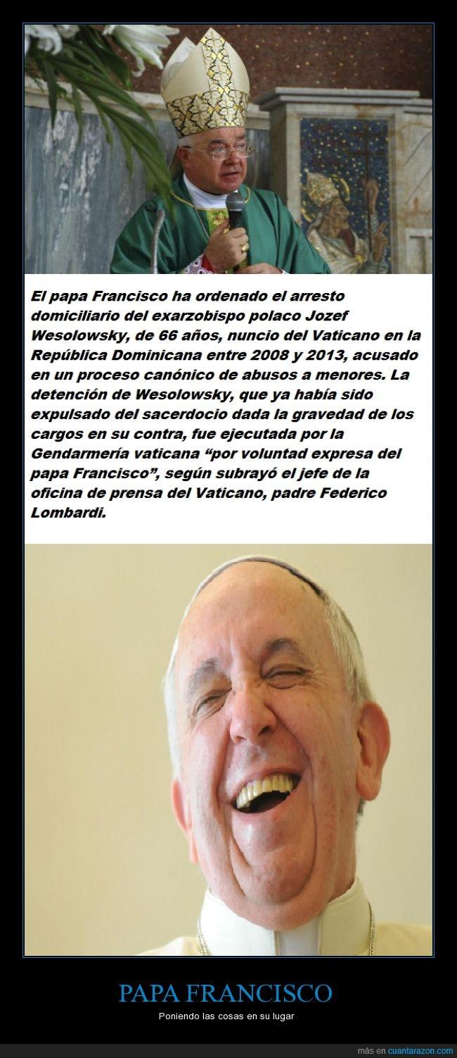 abuso,arresto,catolico,católicos,condenar,cristianismo,Francisco,iglesia,papa,pederasta,religión