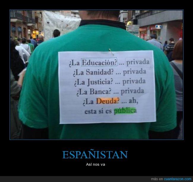 cartel,deuda,educacion,justicia,politica,privada,publica,sanidad