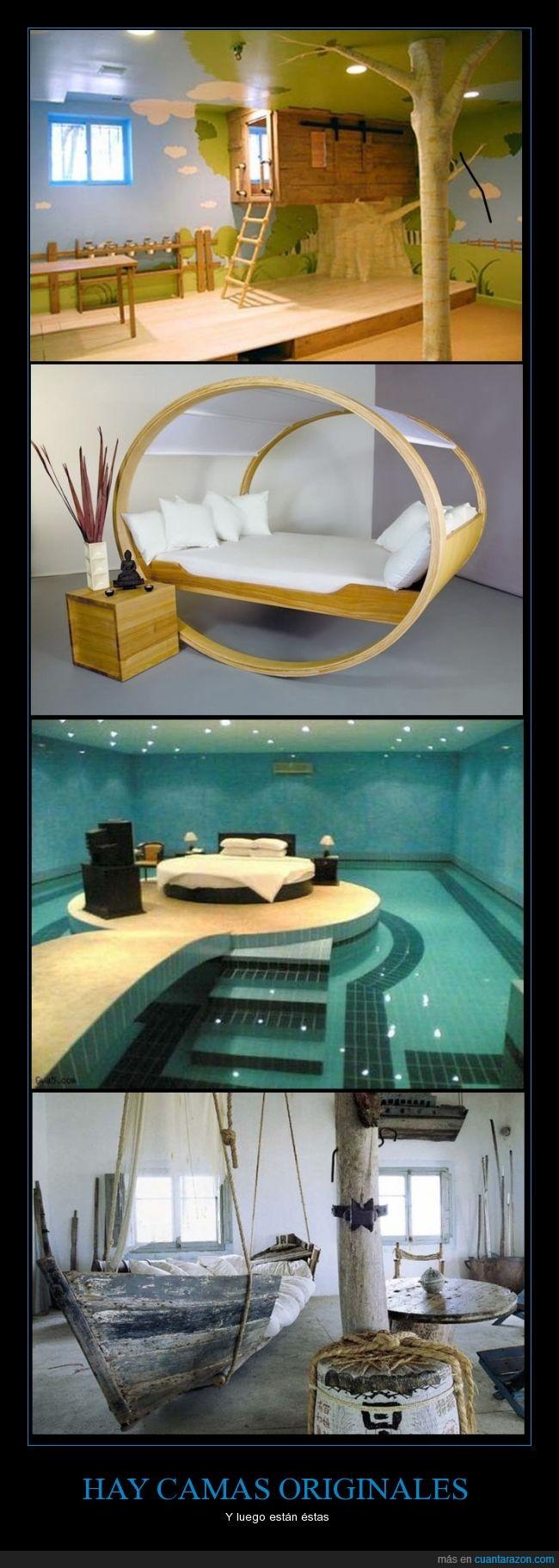 barco pirata,cama del árbol,cama mecedora,camas,originales,piscina