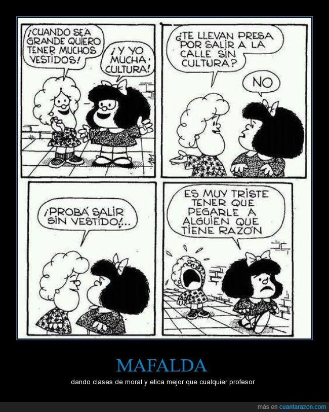 cultura,etica,mafalda,moral,niña,reflexion,vestido