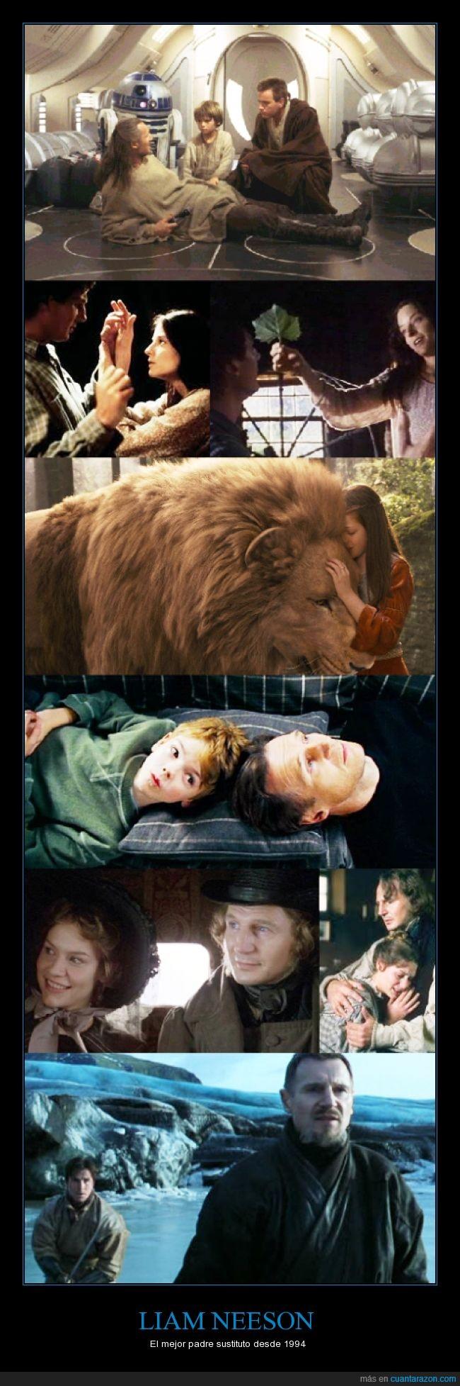 Aslan,Batman,cine,La amenaza fantasma,Las Crónicas de Narnia,Liam Neeson,Los miserables,Love actually,Nell,Star Wars Episodio I,sustituto