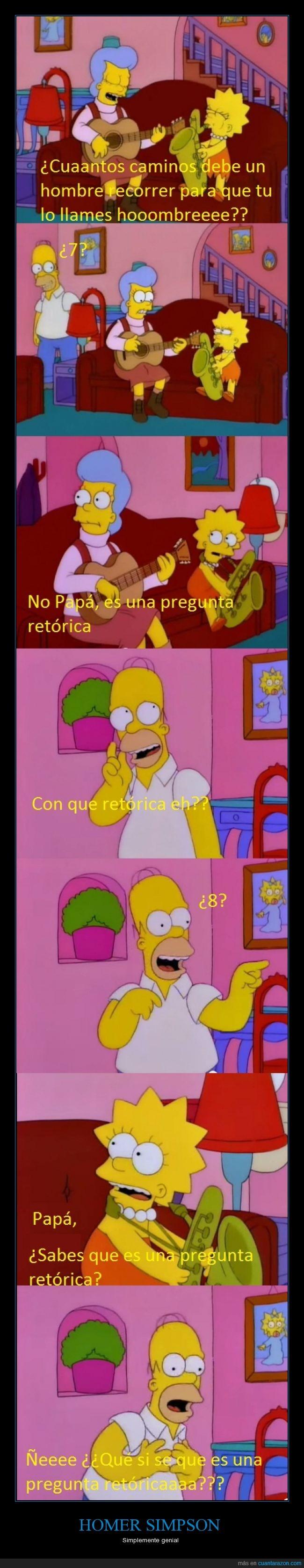 caminos,cancion,Homer,lisa,mona,pregunta,recorrer,retórica,Simpson