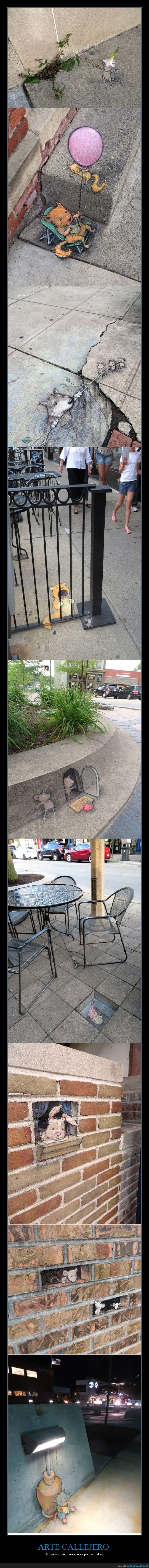 arte,cute,dibujo,graffiti,humor,ingenio,mono,pintura,ratones