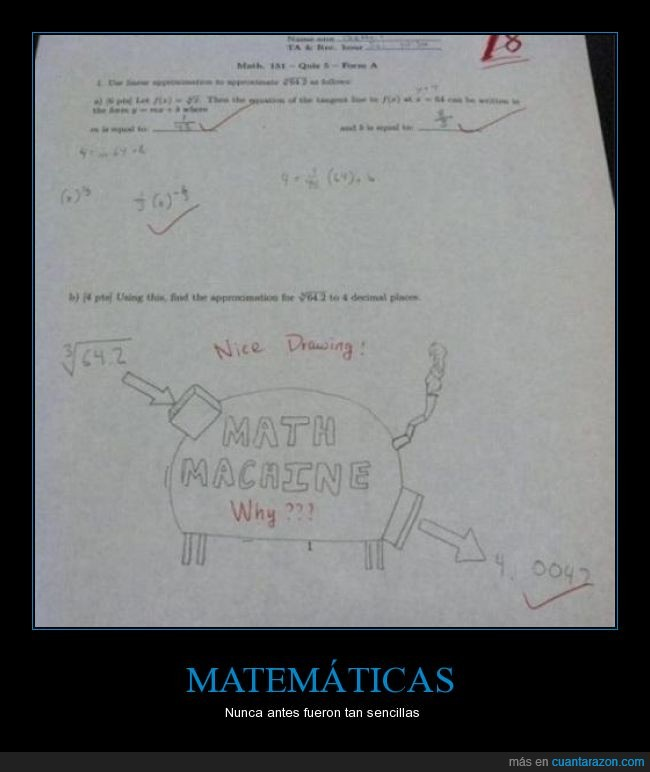 buen intento,epic fail,examen,matemáticas,math machine,mensaje subliminal