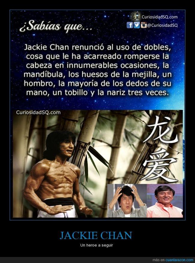 dobles,dolor,escenas,golpes,Jakie Chan,riesgo