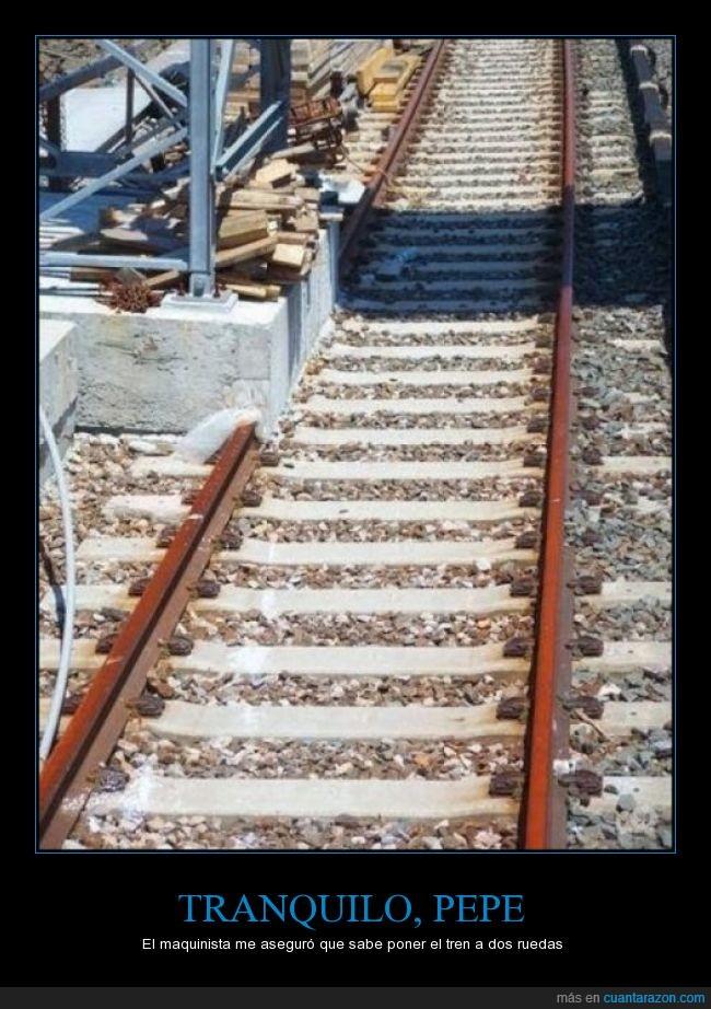 accidente,dos,fails,imposible,inutil,lado,obstruir,parar,rail,ruedas,tapar,tren,via