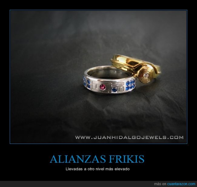 alianzas,anillo,boda,C3PO,compromiso,friki,increibles,R2D2,star wars