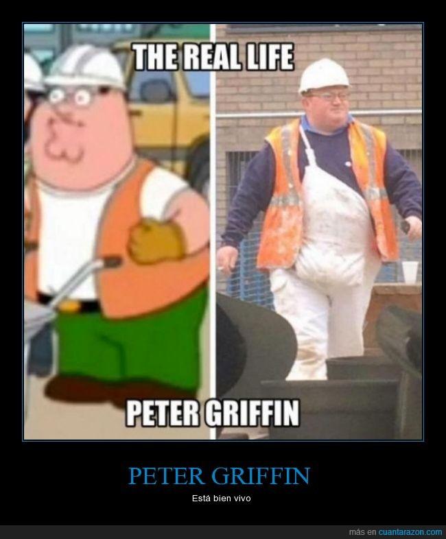 construccion,eeuu,en la vida real,family guy,gafas,gordo,igual,obrero,Petter Griffin