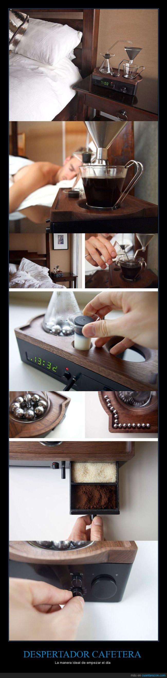 agradable,cafe,despertador,despertar,leche,mañana,olor,reloj