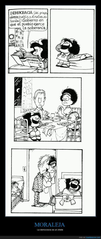 chiste,democracia,historieta,mafalda,moraleja.,quino,reir