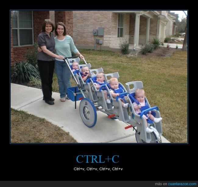 bebes,carrito,cinco,copiar,esta madre no tiene tv,original,pegar,quintillizos