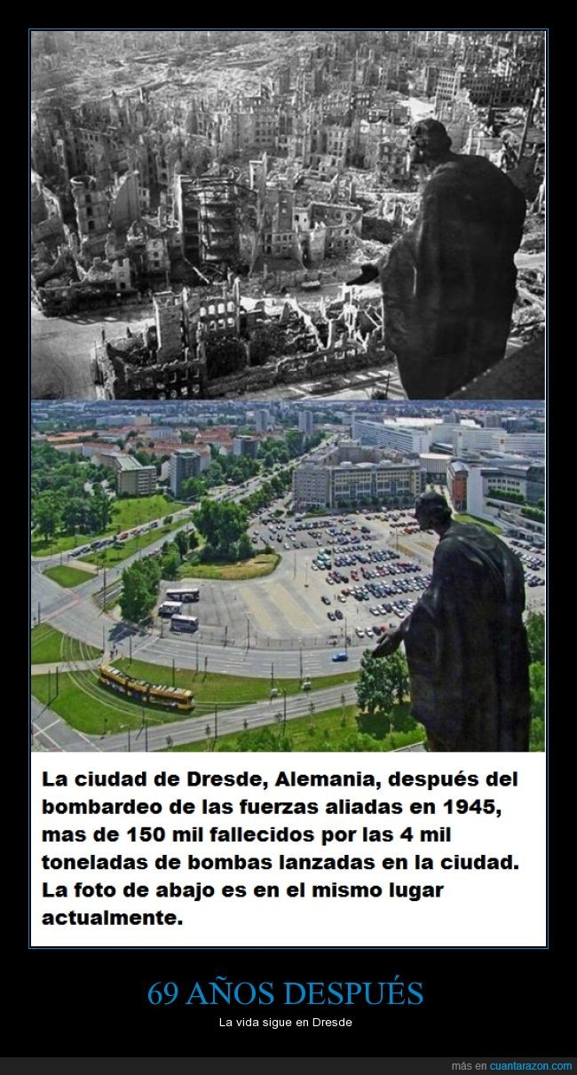 1945,Alemania,bombardeo,Dresde,guerra,mundial