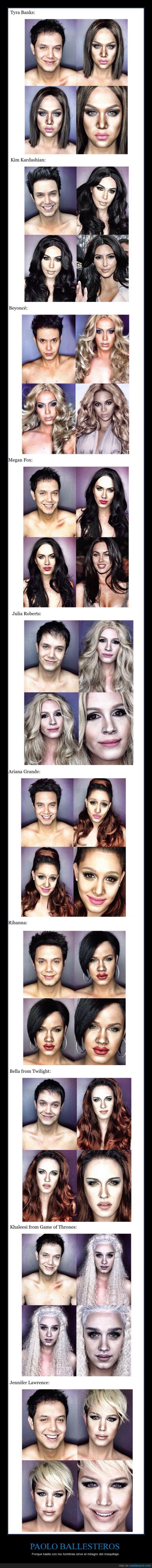 arianna grande,bella,famosas,famoso,jennifer lawrence,kardashian,khaleesi,maquillaje,megan fox,milagro,transformacion,tyra banks
