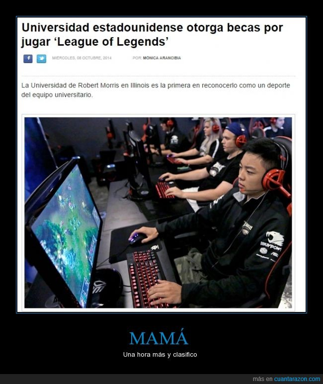 beca,deporte,league of legends,lol,online,universidad,vídeojuego