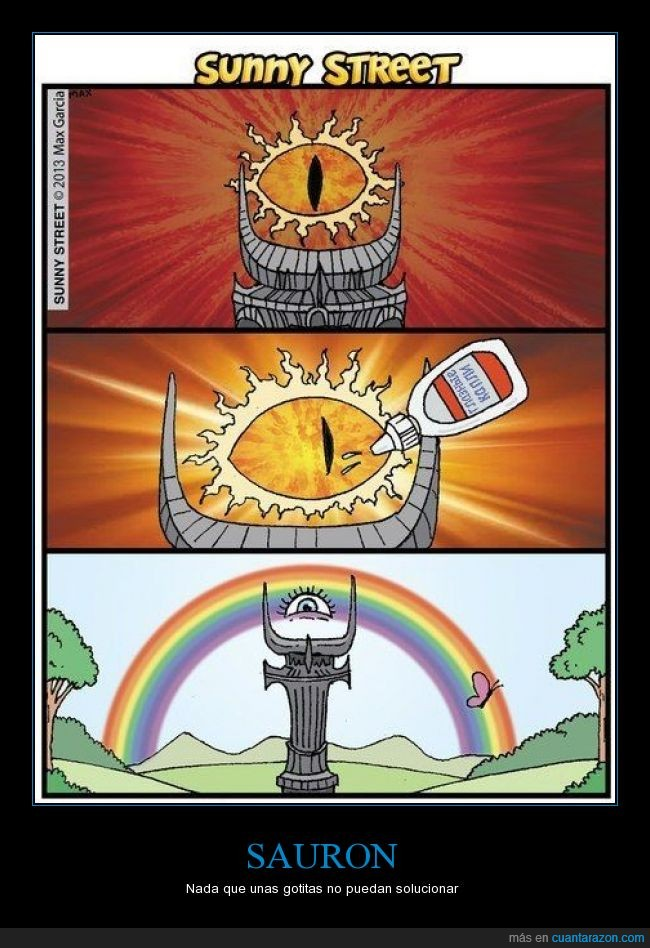 arcoiris,felicidad,gota,gotitas,mariposas,mirada,mordor,ojo,Sauron,vispring