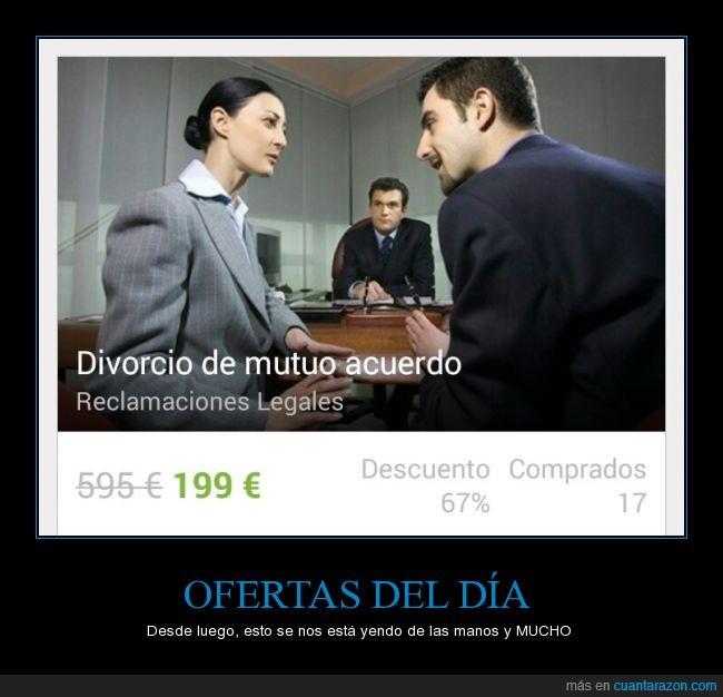 descuento,Divorcios,mutuo acuerdo,oferta,pagando,pagar