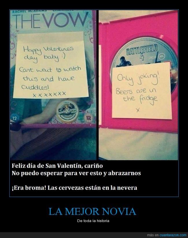 Battlefield,broma,mensaje,novia,película,post-it,romántica,San Valentín