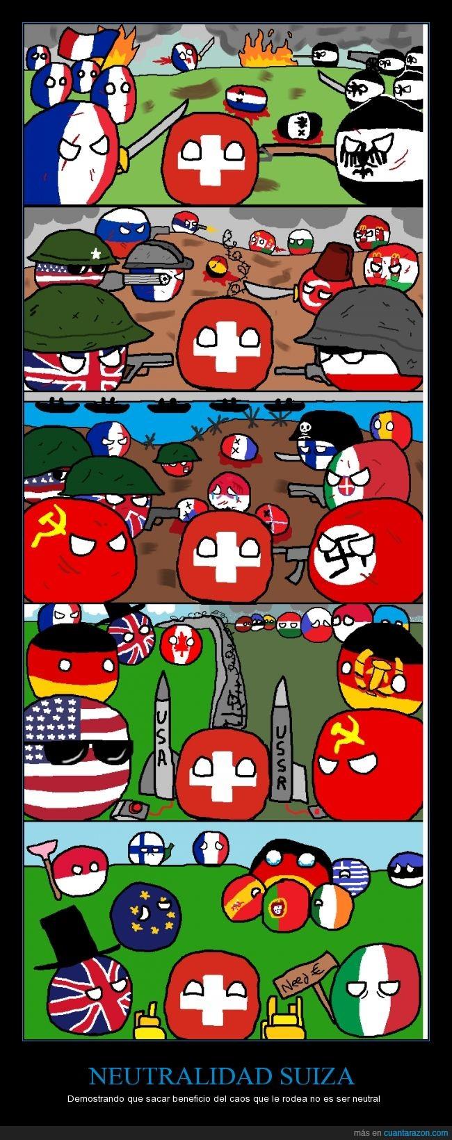 caos,countryball,crisis,dinero,guerra,oro,paisesm neutralidad,Polandball,UE